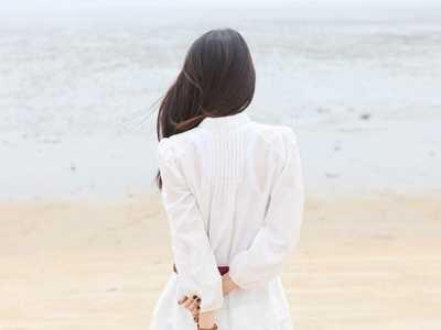 小清新海边伤感美女背影唯美图片精选 海边阳光女神背影照