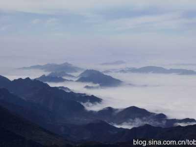 难得一见的五台山山顶风光 五台山顶峰