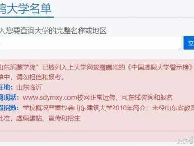 """山东25所""""野鸡大学""""被曝光 山东沂蒙学院"""